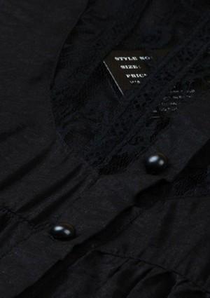 Vintage Long-Bluse in Schwarz 34/36 - günstig shoppen bei vipdress.de