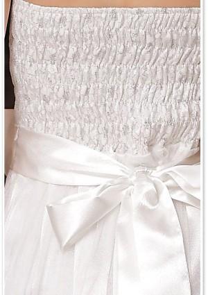 Abiballkleid in Weiß mit Tüll und Stickblumen - online bestellen bei vipdress.de
