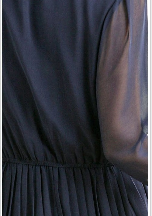 Edles Chiffon Minikleid mit Halsband in Blau - hier günstig online bestellen