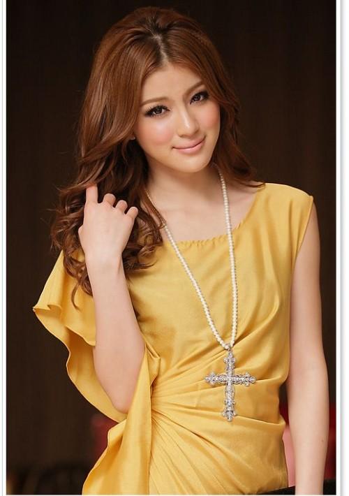 Vintage Partykleid in Gelb mit kurzen Ärmeln - schnell und günstig bei VIP Dress