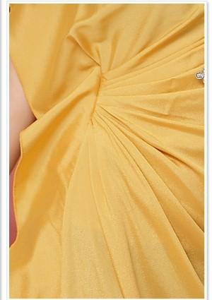 Vintage Partykleid in Gelb mit kurzen Ärmeln - online bestellen bei vipdress.de