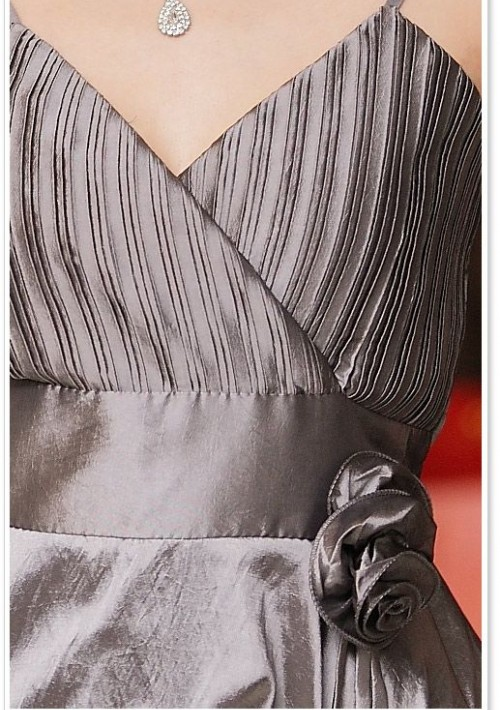 Silber Ballkleid im Ballon-Look und mit Taillenband - günstig shoppen bei vipdress.de