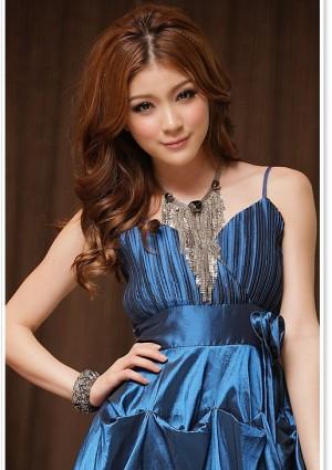 Cocktailkleid mit Ballonrock in Blau - bei VIP Dress online bestellen