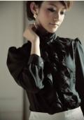Vintage Bluse in Schwarz