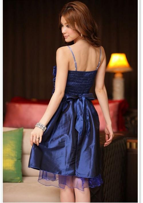 Elegantes Abendkleid in Blau mit kurzem Schnitt - günstig kaufen bei vipdress.de