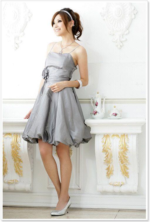 abendkleid in grau mit ballonrock g nstig online kaufen. Black Bedroom Furniture Sets. Home Design Ideas
