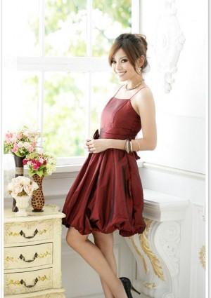 Rotes Abendkleid im Ballonschnitt  - schnell und günstig bei VIP Dress