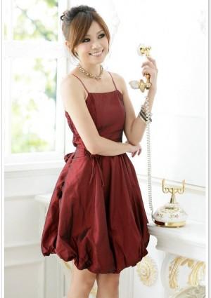 Rotes Abendkleid im Ballonschnitt  - bei VIP Dress günstig kaufen