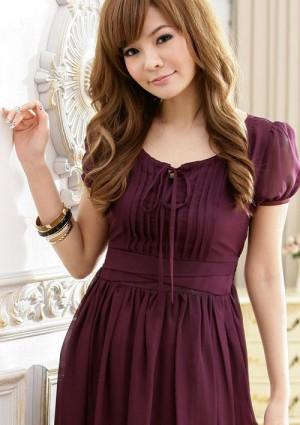 Vintage Chiffonkleid in trendigem Lila - schnell und günstig bei VIP Dress