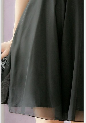 Abiballkleid in Schwarz mit gerafftem Oberteil - günstig bestellen bei VIP Dress