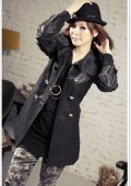 Eleganter Trenchcoat Mantel / Jacke Grau Gr. XS-M