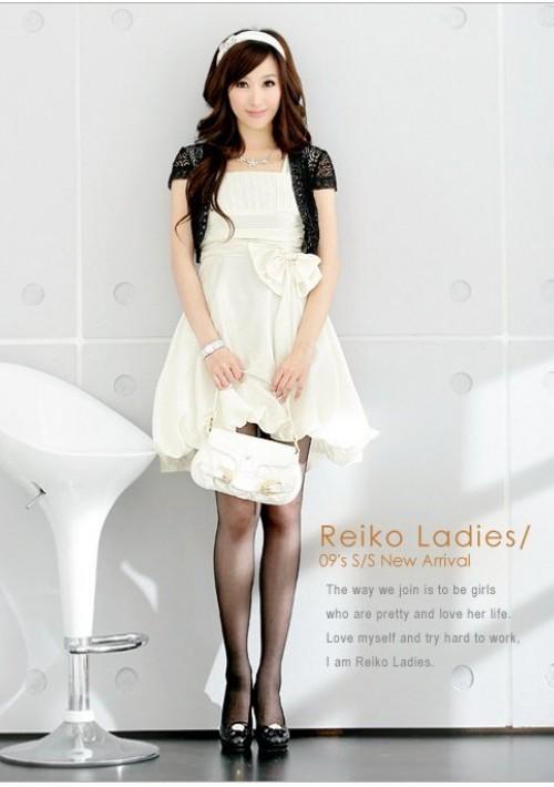 Weißes Cocktail-Kleid mit Ballonrock und Taillenband - bei VIP Dress online bestellen