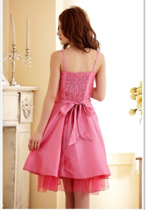 Abiballkleid in Pink mit vielen Blüten - online bestellen bei vipdress.de