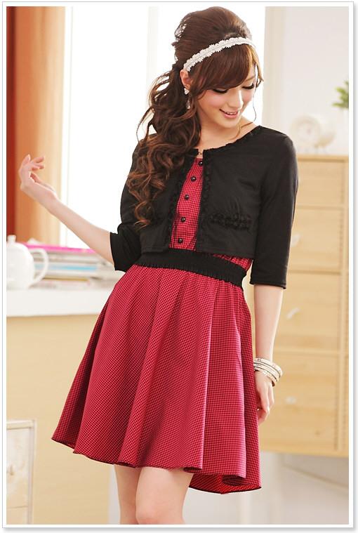 bolero bolero j ckchen jacke kleid in schwarz rosa. Black Bedroom Furniture Sets. Home Design Ideas